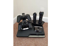 PS3 Slim 400Gb, Various controllers, 10 Games