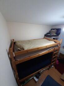 Bunk bed £65. Mattress included (2 x single sprung mattress)