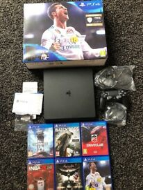 PS4 Slim with 6 games