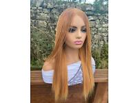 Lace frontal human hair blonde wig
