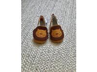 Zara leather lion baby shoes