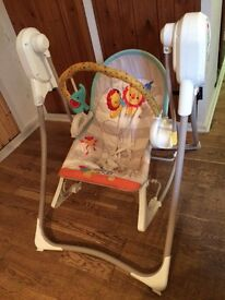 Fisher price baby swing/ and bouncer chair