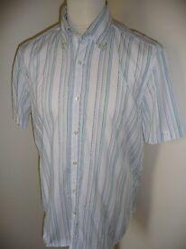Massimo Dutti short sleeved designer shirt, size xl, never been worn, as new !