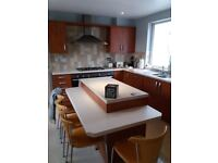 Cherry Laminate Kitchen Including Area