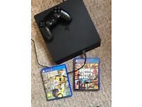 PS4 500GB SLIM, GTA V + FIFA 17