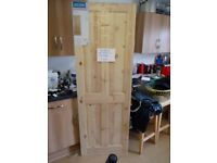"""new pine doors (unprimed) . Width 30"""", Height 78"""" x D 1 1/2 . £12.50 each. slight marks"""