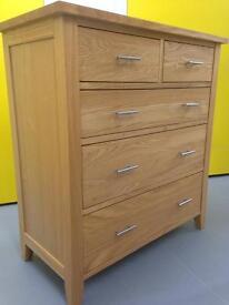 Solid Oak chest of drawers Sideboard Dresser Furniture Sutton