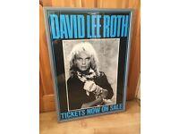 Framed David Lee Roth poster
