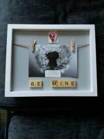 Personalised photo frame Valentine birthday