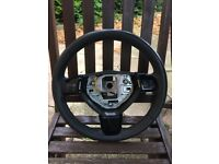 Astra h 2009 leather steering wheel with piano black plastic trim 07594145438
