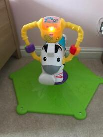 Fisher price jump and spin zebra