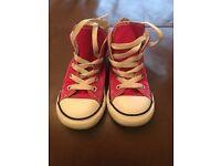 Girls Pink Converse Boots Size 9