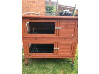Double rabbit hutch only 6 months old