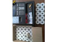 Casio, 140CR Cash register, till with 4 ink rollers & 32 till rolls