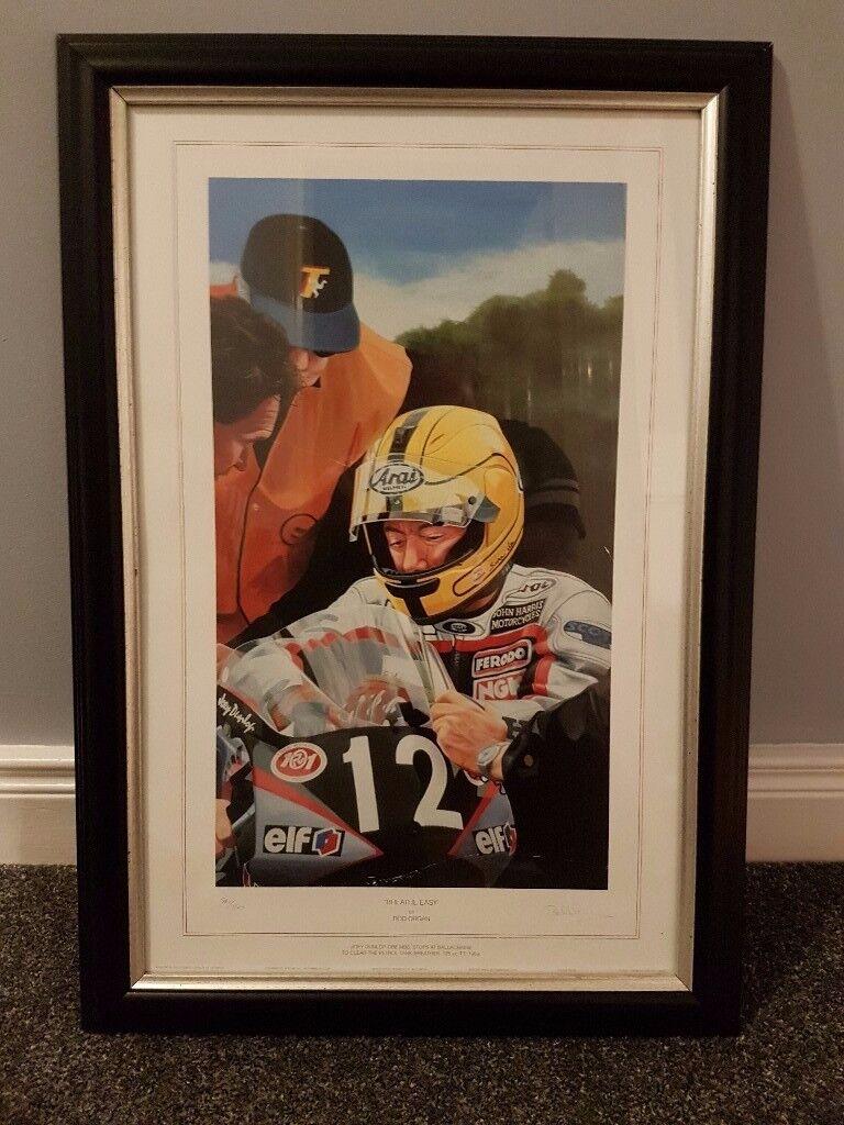 Joey Dunlop Breathe Easy Motorbike print