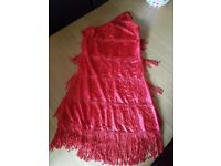 Adults red flapper costume