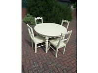 Round Kitchen Table & Four Matching Chairs