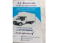 sj removals man and van warwickshire 07739898946