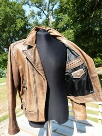"""Very Rare Vintage Chevignon thick Leather Motorcycle Biker Jacket Size 38/40"""""""