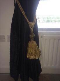 Gold curtain tie backs