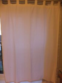 A PAIR IKEA of BRAND NEW COTTON OFF-WHITE CURTAINS 196 X 134 cm