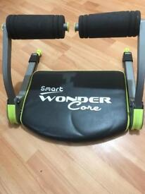 Ab workout - wonder core and Dumbells