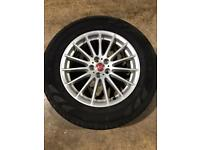 "Single 18"" genuine Jaguar alloy wheel and tyre spare wheel"