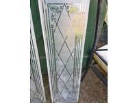 Glass paneling for door
