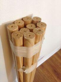 10 Wooden Round Sticks Decorate/Create Art Craft