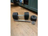 Cast iron dumbbell set - 21kg