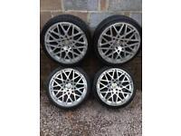 "19"" Rotiform BLQ Alloys Tyres 5x112 Audi Vw Seat Skoda Vag Range"