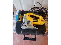 DeWALT DW331K-GB Jig Saw, 240v + Hard Carry Case (as new)