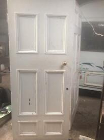 Old internal pine 6 panel doors