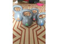 Kettle bell set of weights
