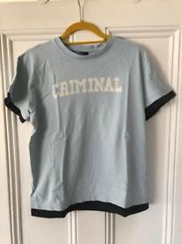 Criminal brand men's tee shirt