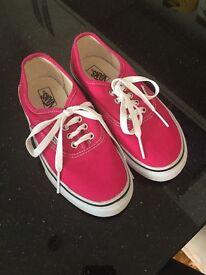 Vans pumps - fuschia pink -never worn