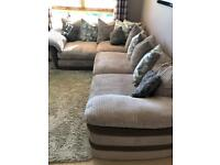 *REDUCED* 4 Seater Corner Sofa & Swivel Cuddle Chair