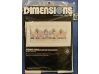 "New Dimensions Counted Cross Stitch Kit ""Victorian Houses"" no 3650"