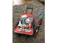 Thomas the tank suitcase and umbrella
