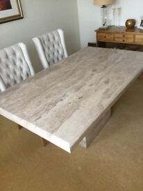 Barker & Stonehouse Travertine Dining Table 1000x1700x90 no Chairs