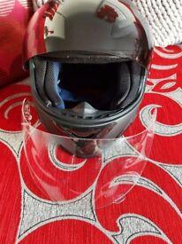 Leopard Medium Black Crash Helmet as New Condition