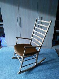 Beechwood rocking chair