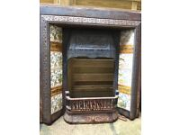 Beautiful Vintage Complete Fireplace, including grate etc