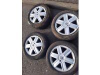 Renault scenic alloys 4x100 4 New tyres 205-55-16