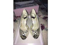 Rainbow bridal shoes