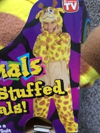 Giraffe fancy dress dressing up costume world book day size medium BRAND NEW