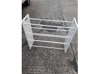 white wood child,s clothes airer/rail