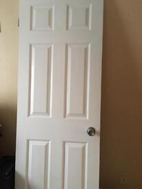 6 panel wood grain internal door