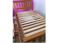 Single pull out bed with storage