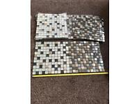 8 sheets Mosaic Tiles glass mirror chrome
